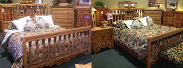 oakwood versailles bedroom furniture. name: mission bay cal king bed finish: classic item #: mbckb footboard dimensions: 79 1/2\ oakwood versailles bedroom furniture